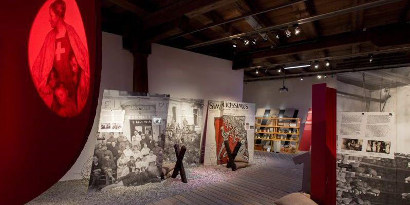 Blick in die Ausstellung 14/18 – Die Schweiz und der Grosse Krieg